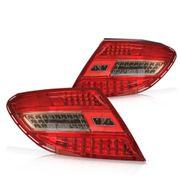 Lanterna-Traseira-Mercedes-Classe-C-c--Led-2010-a-2012-Sport-Vermelha-e-Cristal---Jogo-Completo